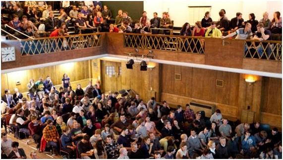 La grande salle, Conway Hall
